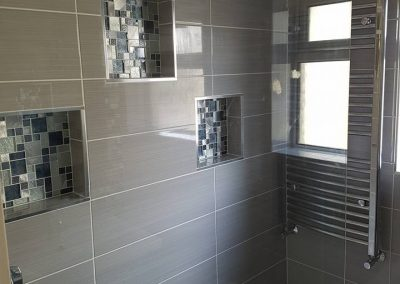 Beautifully tiled bathroom